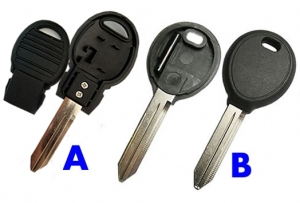 For CHRYSLER dodge TPX  transponder key shell