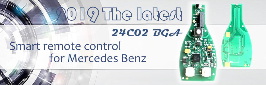 2018 The latest 24C02 BGA Smart remote control for Mercedes Benz