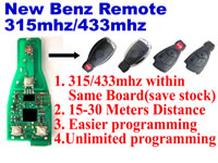 New mercedes benz remote 315mhz 433mhz