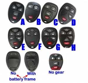 For GM Buick chevrolet Remote case