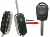 LAND ROVER 3 button Flip Remote key Case