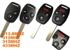 Honda Odyssey 2button Remote Key(USA) 313.8MHz