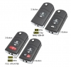 For Mazda flip remote key