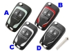 Opel 2button Flip key (Colorful)
