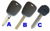 CITROEN transponder key shell