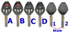 Mitsubishi REMOTE KEY SHELL with button