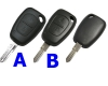 Renault Remote Key case(2button)