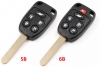 For oem honda 5B/6 button remote key