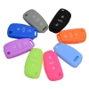 Remote Key Protection Case 3 Button Silicone Remote Key Fob Cover Case For Audi a4 b6 a3 a6 c5 c6 b8 b7 q5 b5
