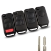 For Mercedes benz flip remote key shell