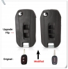 Flip Car Key Case for Chevrolet Captiva Modified Folding Blank Key Shell Cover