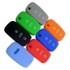 replacement flip folding remote protected shell silicone car key fob cover case skin for Audi A3 A4 A6 A8 TT