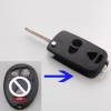 For buick flip key remote case 4button