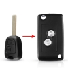Modified flip remote key for old complete pegeot/Citroen remote key