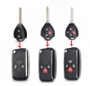 2/3/4 Buttons Updated Flip Remote Key Case For Toyota Avlon Crown Corolla Camry RAV4 Reiz Yaris Prado Key Shell Toy43