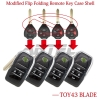 Upgrade 2/3/4 Button Flip Key For Toyota Reiz Camry Rav4 Yaris Corolla 4Runner Avlon Folding Car Remote Key