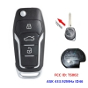 Upgraded Flip Remote Key Fob ASK 433.92MHz ID46 for Suzuki Swift SX4 from 2008-2012 FCC ID: TS002