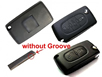PEUGEOT 307 2button Flip Remote Key (with groove) 433mhz 0536