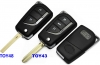 For Toyota Corolla 3button Flip Remote Key