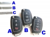 For Hyundai Flip key shell