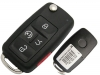 For VOLKSWAGAN 5 Button Flip key shell