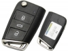 VOLKSWAGAN Golf7 3Button Remote Filp Key