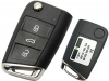 For VOLKSWAGAN GOLF7  MQB 3Button  Filp Key shell