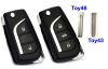 New flip remote key for toyota