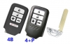 for honda 4/4+p button smart card