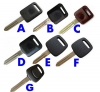 NISSAN transponde key shell