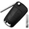 for opel 3button flip key with hu43 blade
