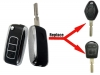 For BMW 3button Silver Flip key(blackberry)
