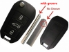 For PEUGEOT 508 flip remote Key