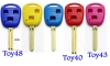 Colorful Toyota/lexus Remote key shell