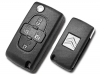 Citroen 4button Flip Remote Key