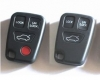 Volvo key keyless 4-button remote fob case cover kit