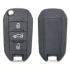 3 Button Folding Remote Car Key 433MHz PCF7941 ID46 Chip for Peugeot 508 208 2008 201 208 2008 408 4008 5008 HU83 Uncut Blade